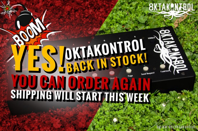 oktakontrol back in stock