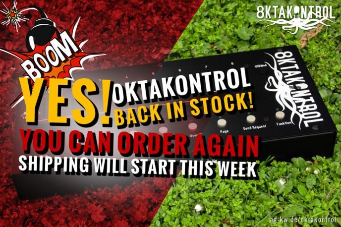 oktakontrol back in stock